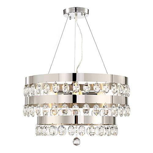 DJY-JY Lámpara de techo de cristal moderna escandinava para sala de estar, dormitorio, restaurante, bar, hotel, 55 x 55 x 36 cm