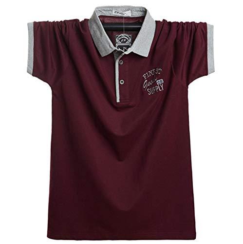 (Two Steps Behind) メンズ 半袖 ゴルフウェア ポロシャツ ビックサイズ ゆったり 大きいサイズ RE59 (L,ダークレッド)