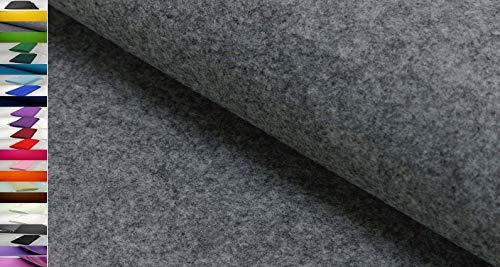 Stoffbook Fieltro de bricolaje ~5MM ~ gris mezcla, D243
