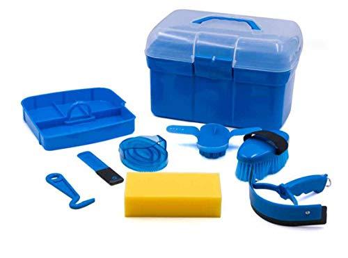 AMKA Putzbox für Kinder Putzkasten - Putzkoffer gefüllt 7 Teile (azurblau)