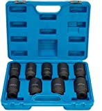FreeTec - Juego de 9 llaves de Vaso Hexagonales Para Ampliación o Instalación de Tuercas de Eje,...