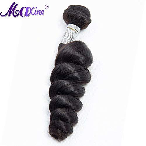 Maxine Hair 10a Peruvian Loose Wave Virgin Hair 1 Bundle Loose Weave Curly Virgin Human Hair extensions Natural Color 28 inch