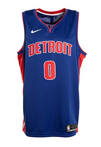 Nike DET Mens NBA Swingman Road Jersey 864473-495 Size M