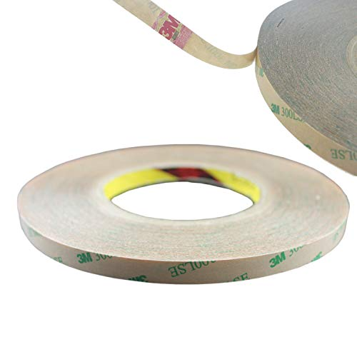 Rextin 50M Meters 10MM 3M Double Sided Tape Adhesive Stronger Stick for 5050 5630 SMD LED Strip Lights (10mm Tape Strong Adhesive)
