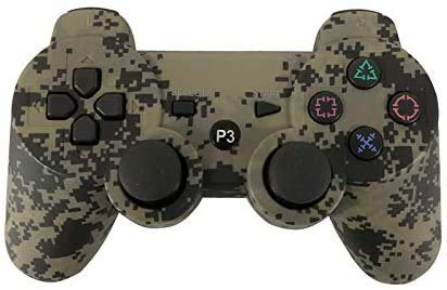 NOBRAND Controlador de Bluetooth Gamepad for PS3 Mando de Juegos for Play Station 3 Joystick inalámbrico de Juegos Playstation 3 Controle QPLNTCQ (Color: Camuflaje Gris) (Color : Camo1, Size : 1)