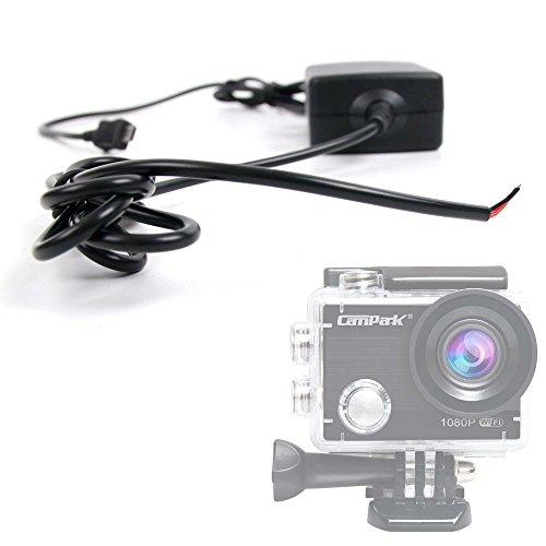 DURAGADGET Caricatore MicroUSB da Auto per Action Camera Rollei Si 360 | BUIEJDOG Ultra Full HD WiFi Action Camera 170 ° | Campark ACT68 | DBPOWER N5 4K Action Camera