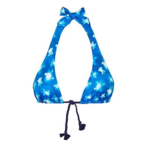 VILEBREQUIN - Top de Bikini Anudado Alrededor del Cuello con Estampado Crystal Turtles para Mujer - ATOLÓN - XL
