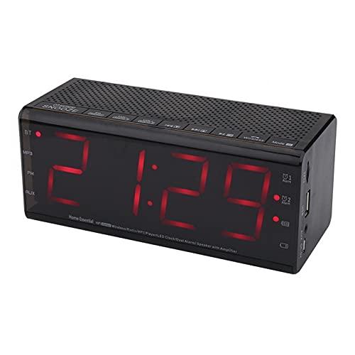 Emoshayoga Despertador 87.0-108MHz para Viajes de Oficina en casa