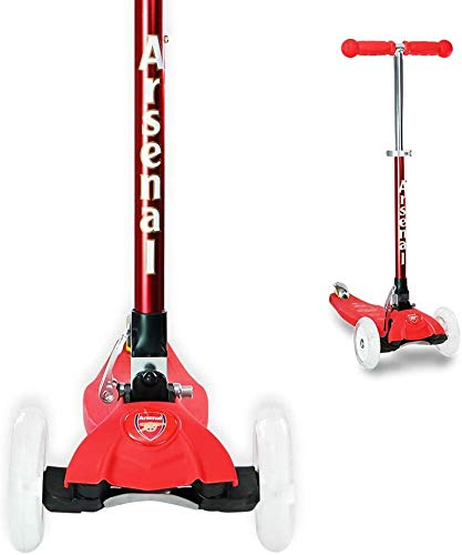 3StyleScooters RGS-1 Patinete Scooter Tres Ruedas para Niños Pequeños Niños de 3 Años o Más con Luces LED en Las Ruedas, Diseño Plegable, Manillar Ajustable (Arsenal Rojo)