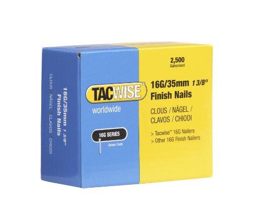 Tacwise 0295 Clavos 16 g 35 mm, Metalizado