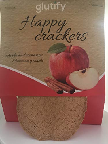 Glutify Crackers Tostis orgánicos de Trigo Sarraceno con manzana y canela 60g |100% Natural, sin gluten, sin OGM