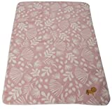 David Fussenegger 22021470 PANDA Babydecke'Dschungel/Löwe' inkl. Stick, rosa, 400 g