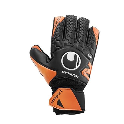 uhlsport Unisex-Adult Soft Resist Flex Frame Torwarthandschuhe, schwarz/Fluo orange/weiß, 6