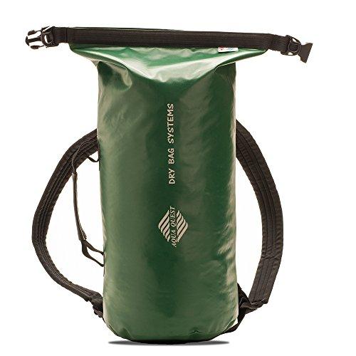 Aqua Quest - Mariner 10 – Petit sac à dos étanche pour kayak ou bateau – Taille réglable adaptée aux adultes et aux enfants – Vert, 10L