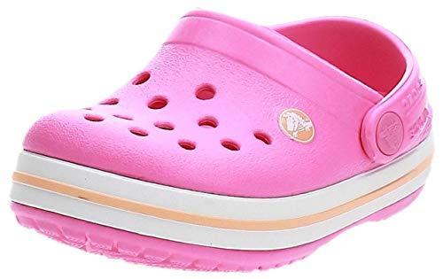 Crocs Crocband Clog K Zoccoli, Bambini, Rosa(Electric Pink/Cantaloupe), 27/28 EU