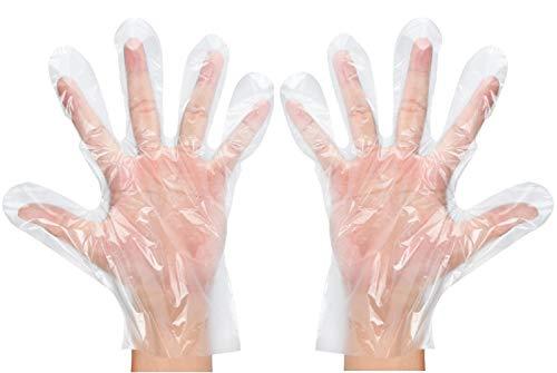100 Stück Einweghandschuhe | HDPE Handschuhe aus Polyethylen | Größe M - L | Ideal zum Färben der Haare und andere kosmetische Aktivitäten