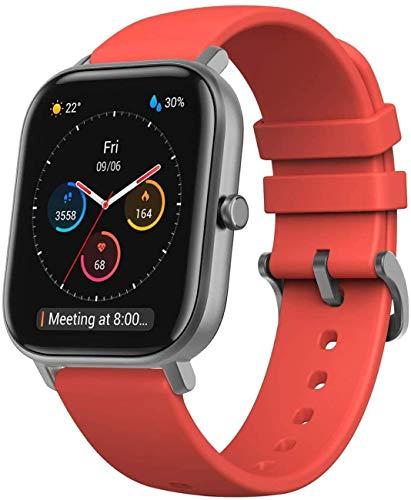 Amazfit GTS Smartwatch Fitness tracker con multitud de perfiles de actividad físcia y con GPS embebido, resistencia al agua 5 ATM (Rojo)