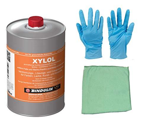 Xylol Reinigungs-, Verdünnungs- & Lösungsmittel entfernt Fette und Wachs (Parafin) zuverlässig und sehr schnell inkl. Microfasertuch von E-Com24 (1 Liter)