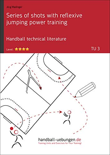 Series of shots with reflexive jumping power training (TU 3): Handball technical literature (Training unit) (English Edition)
