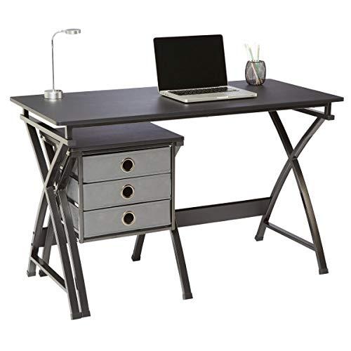 "Brenton Studio X-Cross 48""W Desk and File Set, Black"