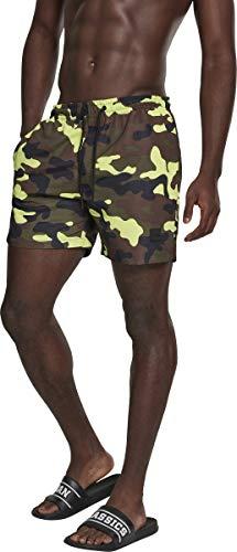 Urban Classics Swimshorts, Pantalones Cortos para Hombre, Multicolor (Frozenyellow Camo 01650), Large