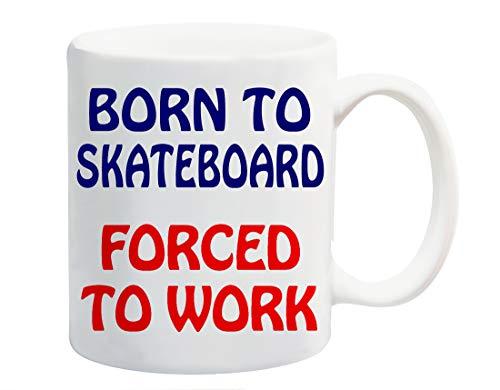 Nacido para patinetas obligados a taza regalo de circo