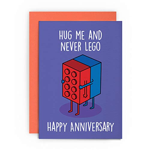 Anniversary Card Funny Husband Wife Boyfriend Girlfriend Wedding Dating 1st First Greeting Happy for Him Her Joke LOL Pun Hug ME
