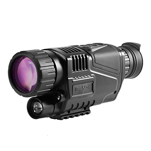 BESTSIGHT 5x40 Digital Night Vision Scope Monocular Telescope for Hunting/Fishing/Rechargeable/Surveillance/Security/Hunting/Hiking with Take Photo/Video Recording/Playback Function for Outdoor