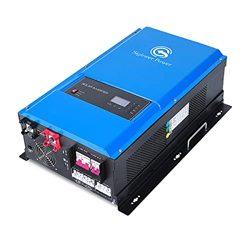 Sigineer Power Solar Inverter,12000W 48V DC to 120V 240V AC Pure Sine Wave Inverter,Built-in 120A MPPT Solar Charge Controller,Split Phase,Low Frequency,for House Off Grid Solar System