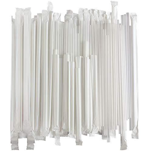 Flexible Plastic Fluorescent Individual Film Wrapped 500 Straws
