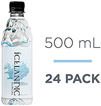 24-Count Icelandic Glacial Natural Spring Alkaline Water, 500 ml