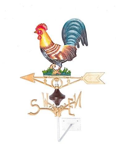aubaho Girouette en Fonte - Motif Coq - Style Antique