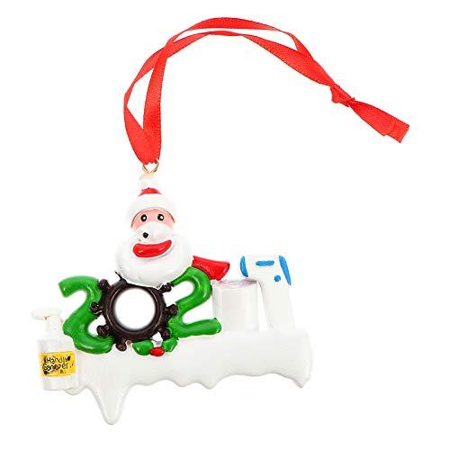 STOBOK 2020 Enfeite de Natal Sobrevivente Família Pendurado Pendurado Boneco de Neve Papel Higiênico Papel Higiênico Decoração de Lembrança para Natal Férias Lareira Decoração da Parede
