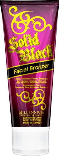 Millennium Tanning Solid Black FACIAL BRONZER Anti-Aging Firming Dark Tanning Lotion 4 oz