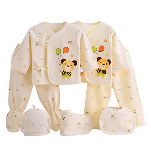 5/7 Piezas Conjunto Bebe Niña Recien Nacido Invierno de Ropa de Dormir + Sombrero + Pantalones +...