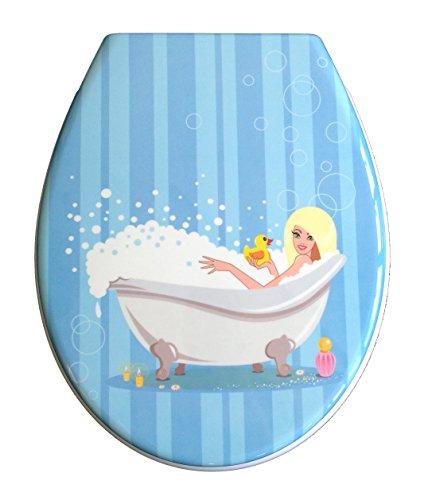 ADOB 59882 Duroplast wc-bril model badkuip met softclose, afneembaar voor reiniging