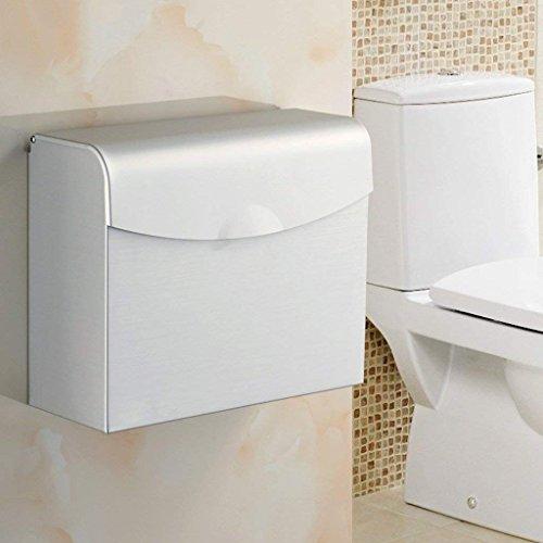 YNG Toilettenpapier-Gestell-Toilettenpapier-Tuch-Kasten/Toilettenpapier-Behälter/Nicht-perforiertes Wasserdichtes Toilettenpapierhalter/Raum-Aluminium-Toilettenpapier-Halter