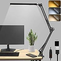 Cumka LED Desk Metal Swing Arm Lamp