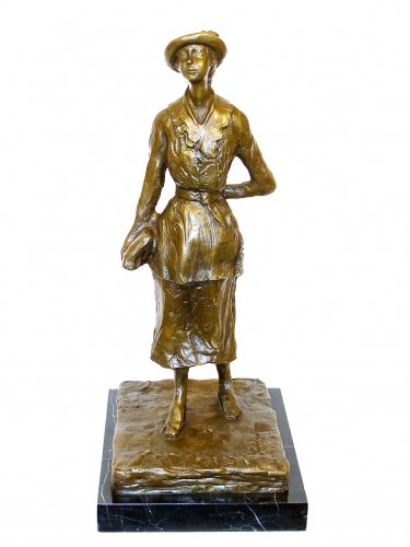 Edgar Degas–Escultura colegiala 1881–Firmada–arte moderno en bronce–Bronce Figuras comprar