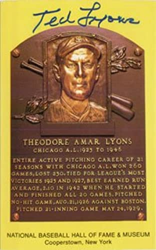 Envío rápido y el mejor servicio Firmado, Ted Hall of of of Fame placa Post Card Autografiada de Lyon  salida de fábrica