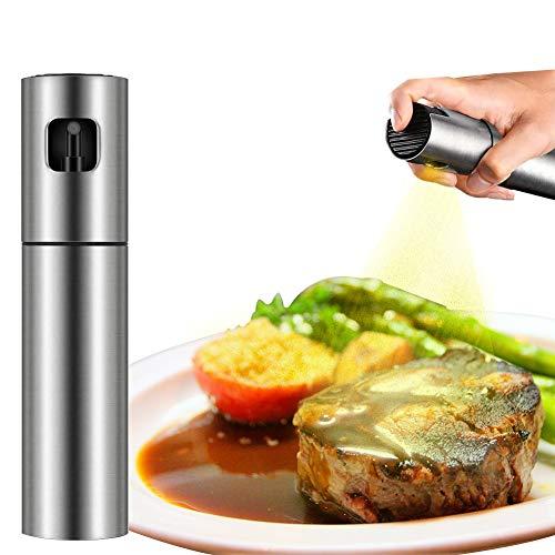 QQLK Oil Sprayer Olivenöl Sprüher zum Kochen - Essig & Ölflasche 100ml - Rostfreier Stahl Olivenöl Flasche Behälter zum Grillen, Salat Machen, Kochen, Backen, Braten, Grillen,1pcs
