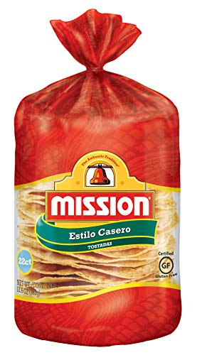 Mission Yellow Tostada Caseras, Gluten Free, Trans Fat Free, 22 Count