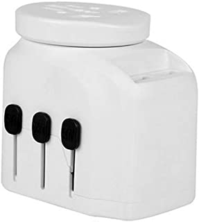 XIMINGJIA-O Power Plug Adapter - International Travel - 2 USB Ports in Over 150 Countries - 100-250 Volt Adapter - (1 Pack) Black International Converter, (Color : White)