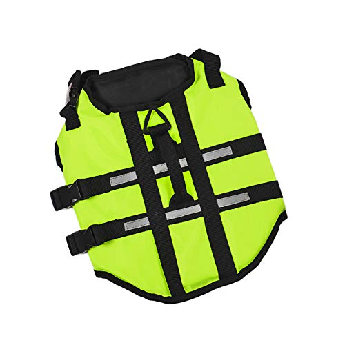 Dog Life Jacket Swimming Safety Vest Swimsuit with Relective Puppy Lift Vest for Small Medium Large Dog (6XL, Green)