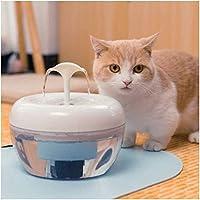 ペット自給式ウォーターマシン、犬猫スマートフィルター水、ペット自動循環水噴水、サイレントモバイルウォーターベイスンドリンカー、ホワイト YANG1MN