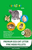 Cosy Life Premium Eco Cat Litter - Pine Wood Pellets - Natural Pine Scent - 30L