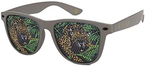 neff Men s Daily Lens Print Wayfarer Sunglasses UVA UVB Protective olive tiger One Size product image