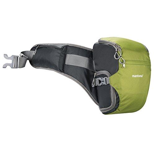 Mantona ElementsPro 10 Outdoor-Kameratasche für DSLR- oder CSC-Kamera grün (Bauchtasche inkl. Regenhülle)