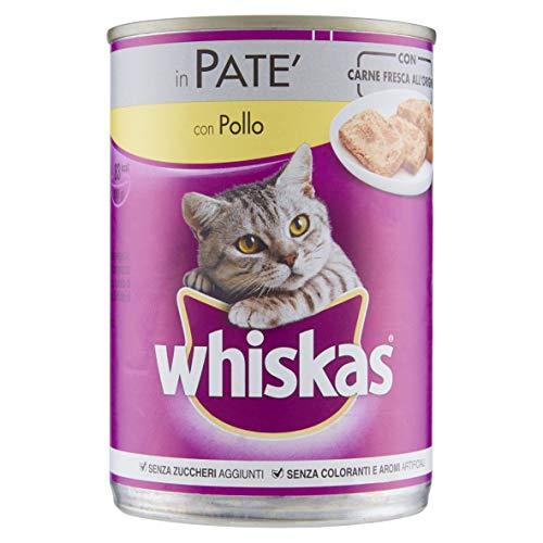 Whiskas in Patè con Pollo 400 g - Cibo per Gatto - 24 Lattine