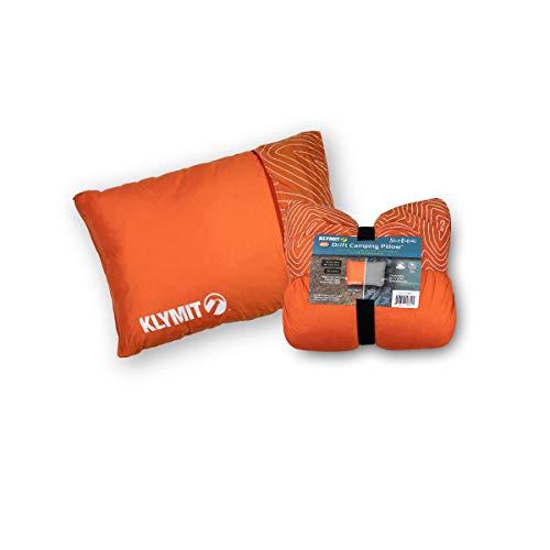 Klymit Unisex's Drift Camping Pillow, Orange, L